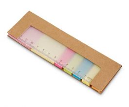 bloc notas adhesivas con regla